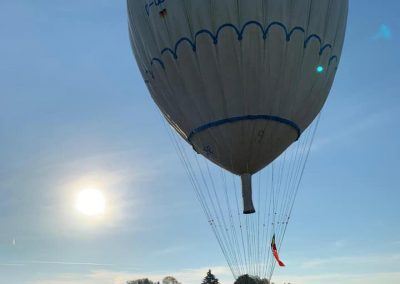Gasballon net geland