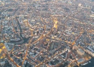 ballonvaart vanuit Gent in de ochtend