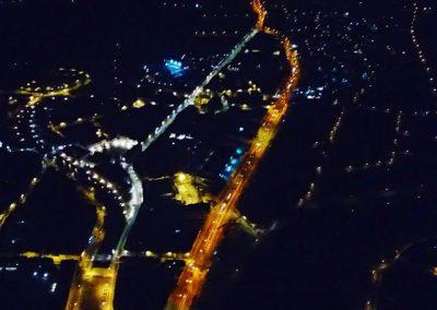 ballonvaart over Dendermonder vfr by night.